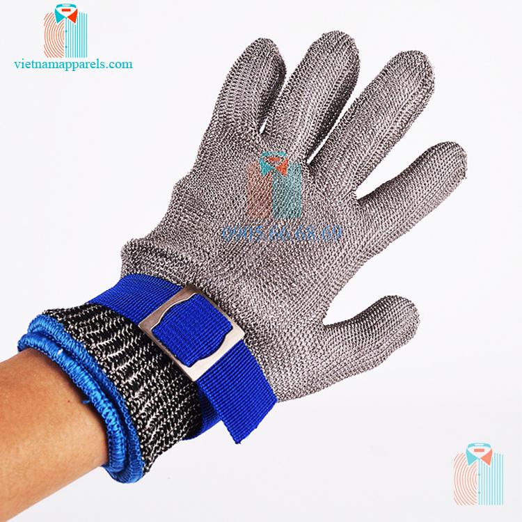 Găng tay bảo hộ lao động lưới kim loại