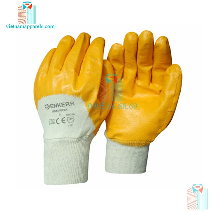 Găng tay bảo hộ lao động cao su